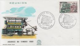 Enveloppe  FDC  1er  Jour     REUNION      JOURNEE  Du  TIMBRE       SAINT  DENIS    1969 - Réunion (1852-1975)