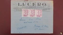 Lettre De Barcelone Pour Le Plateau D'Assy Haute Savoie 1943 , Censure Allemande Au Verso, - 1931-Aujourd'hui: II. République - ....Juan Carlos I
