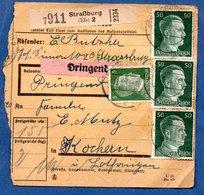 Colis Postal  -  Départ Strasburg 2 -  17/5/1943  -  Abimé - Storia Postale