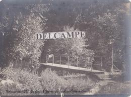 SUISSE HERMANCE 1917 - Photo Originale Du Pont Sur L' Hermance à La Frontière Franco Suisse - Places