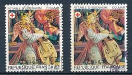 France - Croix-Rouge 1985 Retable D'Issenheim YT 2392 + 2392a Obl. - France