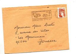 Lettre Flamme Boulogne Comite Renault 35 Ans Nationalisation - Marcophilie (Lettres)
