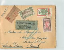 Lettre Recommandée De La MARTINIQUE-  Voyagée De Fort De France à St Etienne En 1930 - Martinique (1886-1947)