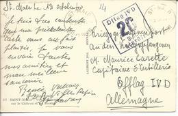 Carte Postale De Saint Malo Vers Officier Prisonnier Oflag IV D Elsterhorst - Marcophilie (Lettres)