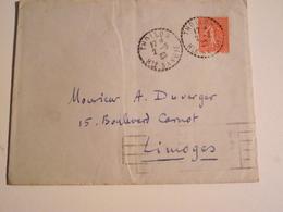 THOLLON, Hte Savoie,  Enveloppe, 1930,  Pour , Limoges - Marcophilie (Lettres)