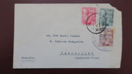 Lettre Barcelona Perforado CBE A Versailles Francia , Censura Militar , Lettre Espagne Perfore CBE Censure Militaire - 1931-Aujourd'hui: II. République - ....Juan Carlos I