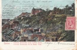 Quebec- Chateau Frontenac From Lower Town - Québec - La Cité