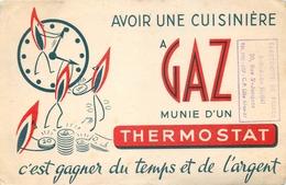 Buvard Ancien CUISINIERE A GAZ ET THERMOSTAT - DOUAI - LILLE - Electricity & Gas