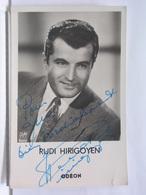 AUTOGRAPHE - DEDICACE - CARTE SIGNEE - RUDI HIRIGOYEN - Autographs