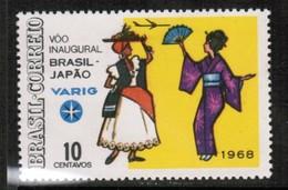 "BRAZIL  Scott # 1085* VF UNUSED---NO GUM ""as Issued"" (Stamp Scan # 443) - Brazil"