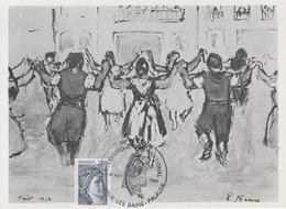 Carte   FRANCE   38éme  Festival   Folklorique   International   AMELIE  LES  BAINS  -  PALALDA   1980 - Marcophilie (Lettres)