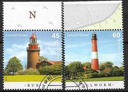 2014 Allem. Fed. Deutschland Germany Mi. 3089-90 FD-used   Leuchtturm Buk +  Leuchtturm Pellworm - [7] République Fédérale