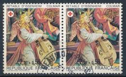 France - Croix-Rouge 1985 Retable D'Issenheim YT 2392a Obl. (paire) - France