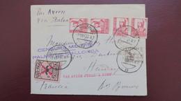 Guerra Civil , Palma De Mallorca 1937 A Hendaye Francia , Vignette Pro Paro Mallorca , Censura Militar - 1931-Aujourd'hui: II. République - ....Juan Carlos I
