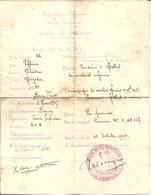 """Ordre De Mission Chaumont Rethel Conduire Du Matériel Réformé """"13°groupe De Reconnaissance De D.I."""" - Marcophilie (Lettres)"""