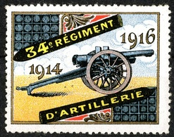 VIGNETTE PATRIOTIQUE 1914  PATRIOTIC CINDERELLA STAMP DELANDRE - Erinnophilie