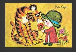 HUMOUR - ENFANTS - HELLO TIGER !  - CARICATURE PAR HEART WARMERS - Humour
