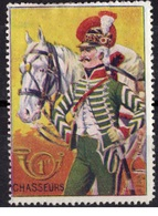 VIGNETTE PATRIOTIQUE 1914  PATRIOTIC CINDERELLA STAMP DELANDRE THEME CHEVAL - Erinnophilie