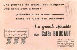 Buvard CAFES BOUCAUT - LILLE - Café & Thé