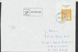 58-253 Estonia Tallinn Helsinki Helicopter Mail 20.11.2000 From Post Arrival Postmark - Estonia