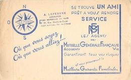 Buvard MUTUELLE GENERALE FRANCAISE ACCIDENTS VIE - LILLE - Bank & Insurance