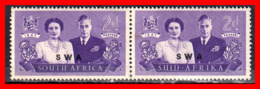 AFRICA  SOUTH AFRICA / PAIR STAMP AÑO 1947 - Oficiales