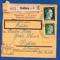 Colis Postal  -  Départ Strasburg 3 -  03/5/1943  -  Abimé - Lettres & Documents