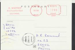 58-255 Estonia Tallinn Postcard Day 13.11.2000 From Post Arrival Postmark - Estonia