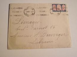 Bagneres  De Luchon ,  Enveloppe, 1930,  Pour , Limoges, Timbre Centenaire Algérie - Marcophilie (Lettres)