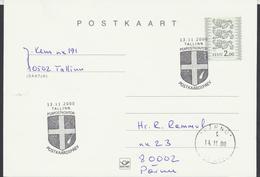 58-257 Estonia Tallinn Postcard Day 13.11.2000 From Post Arrival Postmark - Estonia