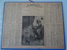 Almanach Des Postes De 1919  Un Dejeuner Compromis - Calendriers
