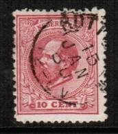 NETHERLANDS  Scott # 25 F-VF USED (Stamp Scan # 443) - Period 1852-1890 (Willem III)
