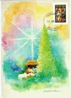 AUSTRALIE.  La Nativité, Ange Et Enfant,  Belle Carte-maximum D'Australie - Christmas