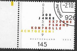 2014 Allem. Fed. Deutschland Germany Mi. 3106 FD-used   300 Jahre Externe Finanzkontrolle - [7] République Fédérale