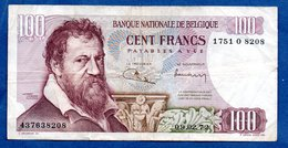 Belgique -  100 Francs 09/02/72  - état  TB+ - [ 2] 1831-... : Royaume De Belgique