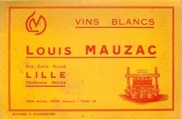 Buvard Ancien VINS BLANCS LOUIS MAUZAC - LILLE - Liqueur & Bière