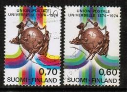 FINLAND  Scott # 550-1 VF USED (Stamp Scan # 443) - Finland