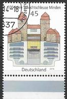 2014 Allem. Fed. Deutschland Germany Mi. 3107 FD-used  100 Jahre Schachtschleuse Minden. - [7] République Fédérale