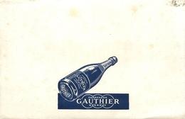 Buvard Ancien CHAMPAGNE GAUTHIER - EPERNAY - Liqueur & Bière