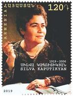 Armenia Arménie Armenien 2018 Mi 1104 Prominent Armenians. 100th Anniversary Of Silva Kaputikyan Women Writer MNH** - Armenia