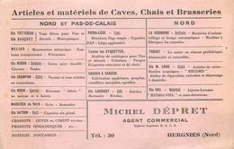 Buvard Ancien ARTICLES ET MATERIELS CAVES CHAIS ET BRASSERIES - MICHEL DEPRET - HERGNIES - Liqueur & Bière