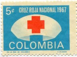 Lote CR25, Colombia, 1967, Sello, Stamp, Cruz Roja, Red Cross - Colombia