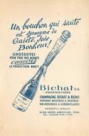 Buvard Ancien CHAMPAGNE BICHAT - VINS MOUSSEAUX - VOUVRAY - AUBERVILLIERS - REIMS - Liqueur & Bière