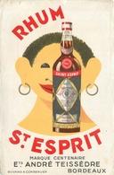 Buvard Ancien RHUM SAINT ESPRIT - ETABLISSEMENT ANDRE TEISSEDRE - BORDEAUX - Liqueur & Bière