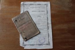 Livret Militaire Et  Certificat De Bonne Conduite  Classe 1894  22 Eme RI - Documents
