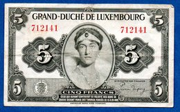 Luxembourg -  5 Francs 1914  - état  TB+ - Luxemburg