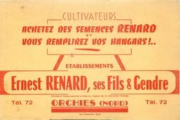 Buvard Ancien CULTIVATEURS ERNEST RENARD FILS ET GENDRE - ORCHIES - Agriculture