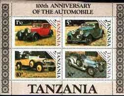 90455) Tanzania - 100 Anni Automobile Blocco 53 Post Fresco 1986-MNH** - Tanzania (1964-...)