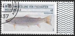 2014 Allem. Fed. Deutschland Germany Mi. 3120 FD-usedWiederansiedlung Von Fischarten: Meerforelle. - [7] République Fédérale