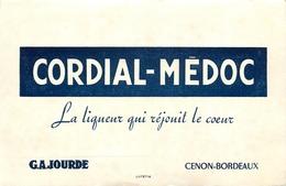 Buvard Ancien LIQUEUR CORDIAL MEDOC G.A.JOURDE - CENON BORDEAUX - Liqueur & Bière